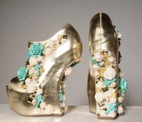 Golden Cascade Shoes
